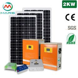 Solarhauptsolar-PV Mischling des Mars-Systems-2kw mit Panel-Controller-Batterie-Inverter