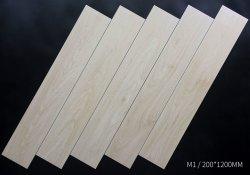 工場で直接木材セラミックタイル木製ルックタイル床張り