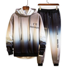 Atmungsaktive Farbverlauf-Dye-Sport-Anzugssets