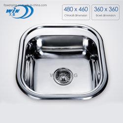 Foshan Hightech Küchenwaschbecken mit gebürsteter Oberflächenbehandlung Wy4846