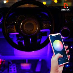 Color inalámbrica persiguiendo Interio Extrior Car Kit de luz LED Flexible tira de luces.