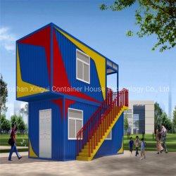 Сборные Двух этажное здание стальной раме контейнера Hostel питателя