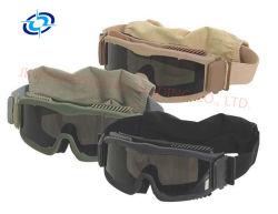 نظارات باليستية عسكرية نظارات واقية تكتيكية واقية من الجو ونظارات قتالية للجيش 3 مقاوم لرياح الضباب قابل للتغيير 265