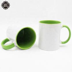 Flans écologique de la sublimation tasse à café en céramique de voyage