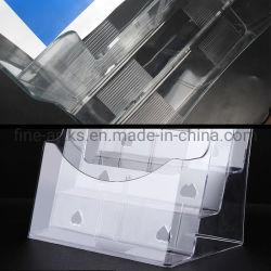 Bürobedarf 3 Fächer Transparentes Acryl Dokument Broschüre Halter Broschüre Anzeigen