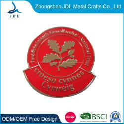 Saudou Fundição de liga de zinco Monograma do esmalte Witn Pin de lapela amostra grátis (155)