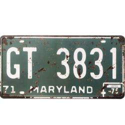 차 번호판 주석에 의하여 돋을새김되는 금속 표시 30X15cm 홈 바 다방 격판덮개