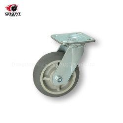 Serviço Pesado Rodízio Industrial dois rolamentos de esferas TPR, PU, PVC e PP fixado/ Swivel/ Travão da Roda do Rodízio