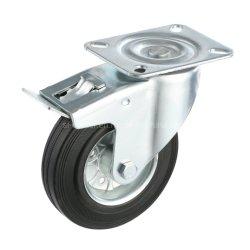 75mmの産業黒いゴム製足車の車輪