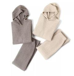 Fyb Twinset moda vestido tejido personalizado Pullover Hoodie Cashmere Sweater