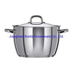 Ustensiles de cuisine en acier inoxydable 2PCS Casserole en acier inoxydable de forme conique