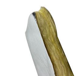 Pannello isolante giallo a prova di fuoco delle lane di vetro della fibra 12kg/M3