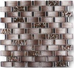 Baumaterial Küche Backsplash Badezimmer Dusche Wand Rechteck Galvanisierte Gradient Spiegel Braun Glitter Kristallglas Mosaik