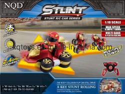 La frecuencia de 2,4 Ghz, 1: Escala de 18 grados de rotación de 360 RC Stunt Car juguete