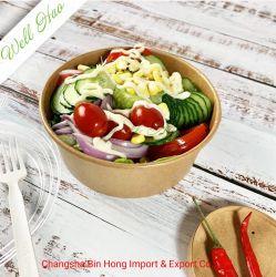 وعاء ورق كرافت صديق للبيئة مخصص للاستخدام مع ورق باللون البني الفاتح الطعام