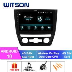 Witson Android 10 GPS Navigation van Car DVD voor het Airconditioningstoestel Version 4GB RAM 64GB Flash Big Screen van Auto van de Yeti van Skoda 2014-2017