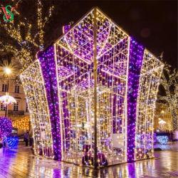 La decoración de vacaciones de la calle LED 3D Motif Caja de regalo Decoración de Navidad