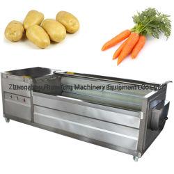 상업적인 과일 야채 생강 고구마 껍질을 벗김 기계를 거피하는 세척 당근 청소 Apple 세탁기 카사바