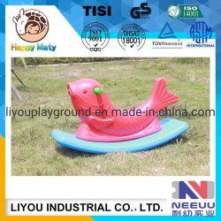 Los niños Rocking Horse de plástico de dos colores para niños