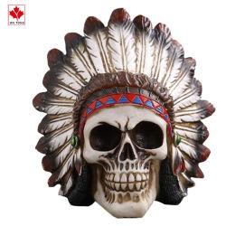 Polyresin cráneo indio artesanales Halloween