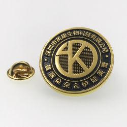 De Metal barato de latón dorado esmalte insignia de solapa con el relleno de colores