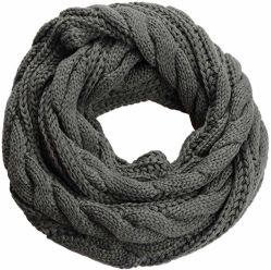 Knit-Winter-Endlosschleife-Schal der Frauen starker Rippe