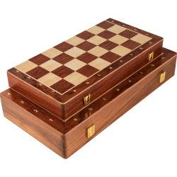 Il grande adulto interno piegante di legno magnetico di memoria della scheda 29cm*29cm del gioco di Felted dell'insieme di scacchi scherza la scheda di scacchi del gioco della famiglia del regalo