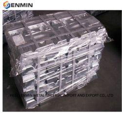El 99,9% de pureza A7 A8 A9 Lingote de aleación de aluminio/Zinc con Certificación SGS de China de fábrica del fabricante/proveedor