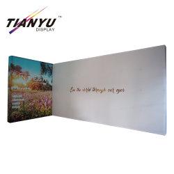 Faixa de exibição de tecido Pop-up portátil Cabine de exposições