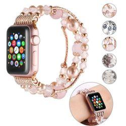 2020 мода ювелирные изделия Агат браслет Iwatch Band для Apple Смотрите 38 мм 40 мм 42 мм 44 мм Серия 1 2 3 4 Дизайнер браслеты
