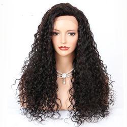 El cabello humano 100% Sassy Rizo pelo Remy Indian peluca de encaje completo blanquea nudos derechos el cabello rizado