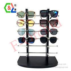 Sunglassの表示大きいフレームのサングラスの陳列だなの薄板にされた目の摩耗の表示12のガラス
