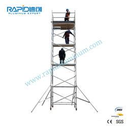 En1004 Aluminum Mobile Tower Ringlock إطار من الألومنيوم البناء قماشم