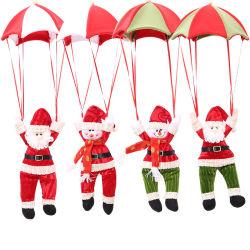 Decoración de Navidad Papá Noel colgado Doll paracaídas Santa Claus Navidad muñeco de nieve de juguetes de peluche colgante