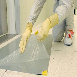 Stuoia adesiva personalizzata del pavimento del laboratorio a gettare grigio bianco del polietilene