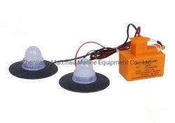 Batterie des Rettungsfloß-Rsfd-1 mit den internen und internen Lichtern
