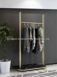 Magasin de vêtements Vêtements de luxe en marbre de présentoir meubles rack métallique