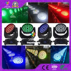 Etapa DMX DJ Discoteca Zoom Lavagem farol 36X18W Rgbwauv 6 em 1 Luz de movimentação de LED