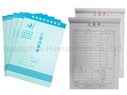 Modulo senza carbonio su ordinazione della ricevuta del libro di carta del libro di fattura della copia della stampa due