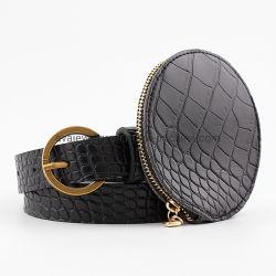 小さい円形の財布が付いている流行のInstagram促された様式のウエストベルト