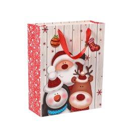 China impresión de lujo en venta al por mayor ropa de Navidad de compras de cinta de embalaje Kraft Tote Joyería bolsas de papel de regalo