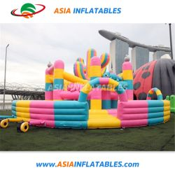 Almofada Insuflável Rosa Aloe Fun City Saltar para crianças