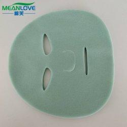 非編まれたファブリックSpunlaceの顔マスクシート、緑PP