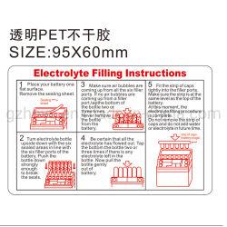 スクリーンは付着力の電子デバイスのポリカーボネートポリエステルラベルのステッカーを印刷した