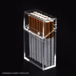 Embalagem de cigarros em acrílico transparente de luxo Caixa de oferta