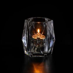 Gravação de longa jarra de vidro de grandes famílias jarra de vidro de Óleo de parafina Branca Vela de cera