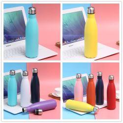 O logotipo personalizado isolada da parede dupla em aço inoxidável garrafa de bebida num balão de vácuo Sport Metal garrafa de água