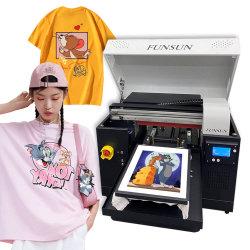 Tamaño A3 de superficie plana de escritorio textil tejido de algodón de bricolaje Tshirt Camiseta automática directa digital T-Shirt impresora DTG la máquina de impresión