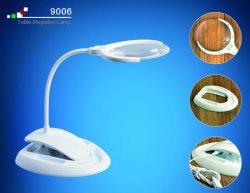 2 in 1 Verwisselbare lijst-Klem Navulbare Dimmable Magnifier met LEIDEN Licht Vergrootglas voor Lezing