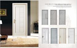 Estilo moderno y simple puerta tallada artesanía interior Puerta de madera
